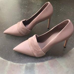 Vince leather pump / heel 7.5 M